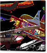 Airplanes Collage  Canvas Print