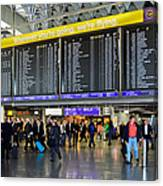 Airport Departure Board Frankfurt Germany Canvas Print