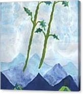 Airy Two Of Wands Canvas Print