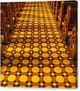 Church Aisle Patterned Floor Canvas Print