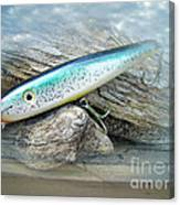 Ajs Baby Weakfish Saltwater Swimmer Fishing Lure Canvas Print