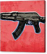 Ak - 47 Gun Pop Art Drawin Poster Canvas Print