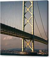 Akashi Kaikyo Bridge Sunset Canvas Print