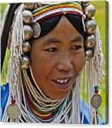 Akha Tribal Woman - Kengtung Burma Canvas Print