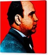 Al Capone C28169 - Red - Painterly - Text Canvas Print