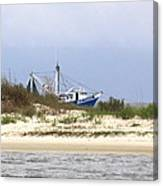 Alabama - Gulf Of Mexico Shrimper - Beautiful Day For Fishing Canvas Print