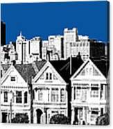 Alamo Square -  Royal Blue Canvas Print