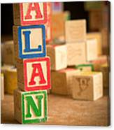 Alan - Alphabet Blocks Canvas Print