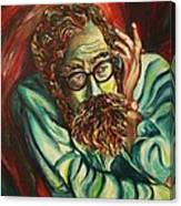 Alan Ginsberg Poet Philosopher Canvas Print