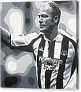 Alan Shearer - Newcastle United Fc Canvas Print