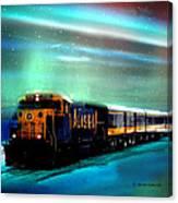 Alaska Aurora Train  # Da 080 Canvas Print
