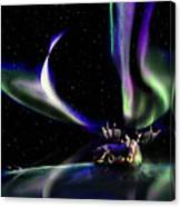 Alaska Aurora Unpredictable Spirals # Da 099  Canvas Print
