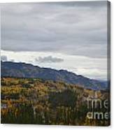 Alaska Highway At Lewes River Bridge  Canvas Print