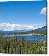 Alaska Highway Steel Bridge Teslin Yukon Canada Canvas Print