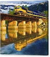 Alaska Railroad Reflections Canvas Print