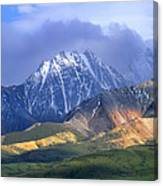 Alaska Range And Foothills Denali Canvas Print