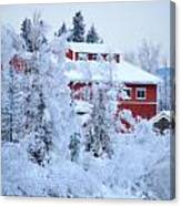 Alaskaland Train Station I Canvas Print
