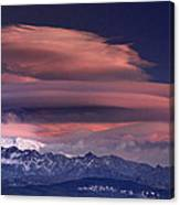 Alayos Mountains At Sunset In Sierra Nevada Canvas Print