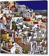 alba a Santorini Canvas Print