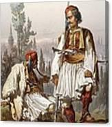 Albanians, 1865 Canvas Print