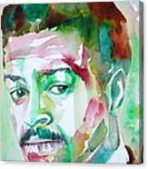 Albert Ayler - Watercolor Portrait Canvas Print