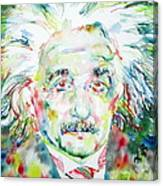 Albert Einstein Watercolor Portrait.1 Canvas Print