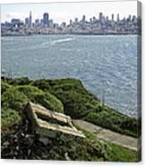 Alcatraz And San Francisco Canvas Print