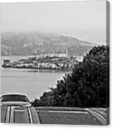 Alcatraz Island From Hyde Street In San Francisco Canvas Print