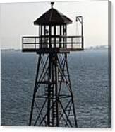 Alcatraz Watch Tower Canvas Print