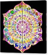 Alchemical Lotus Zodiac Canvas Print
