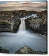Aldeyjarfoss Waterfall North Iceland Canvas Print