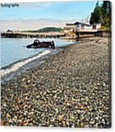 Alert Bay Beach Scape Canvas Print