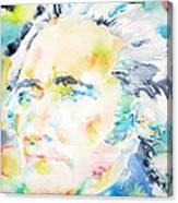 Alexander Hamilton - Watercolor Portrait Canvas Print