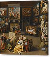 Alexander The Great Visiting The Studio Of Apelles Canvas Print