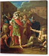 Alexander The Great Visits Diogenes At Corinth, 1787 Oil On Canvas Canvas Print