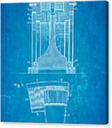 Alexanderson Altenator Patent Art 1911 Blueprint Canvas Print