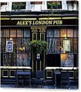 Alex's London Pub Canvas Print