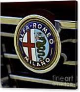 Alfa Romeo Badge Canvas Print