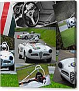 Alfa Romeo Milano Collage Canvas Print