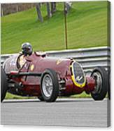 Alfa Romeo On Sam Posey Straight Canvas Print
