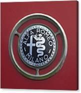 1961 Alfa Romeo Giulietta Sprint Veloce Series II Emblem -1045c Canvas Print