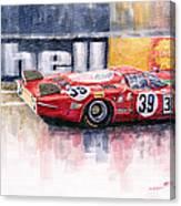 Alfa Romeo T33 B2 Le Mans 24 1968 Galli Giunti Canvas Print