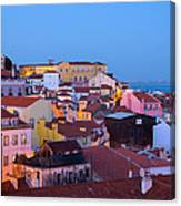 Alfama Rooftops Canvas Print