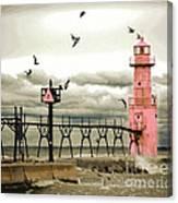 Algoma Pierhead Lighthouse Canvas Print