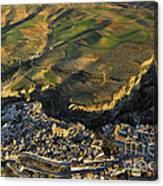 Alhama De Granada From The Air Canvas Print