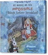 Alice Dream Canvas Print