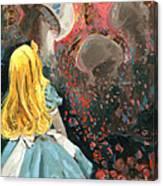 Alice In Mushroom Acres Canvas Print