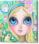 Alice In Pastel Land Canvas Print