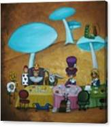 Alice In Wonderland Art - Mad Hatter's Tea Party I Canvas Print