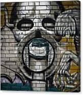 Alien Graffiti Canvas Print